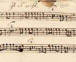 Early baroque score viola