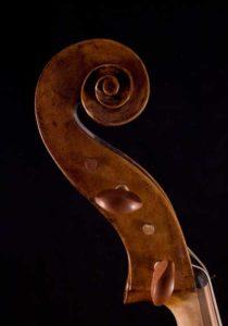 Giovanni Francesco Celoniato cello scroll