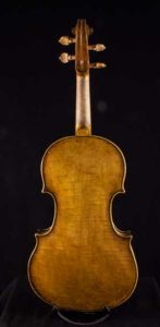 Baroque Violin back and neck