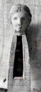 female head viola scroll