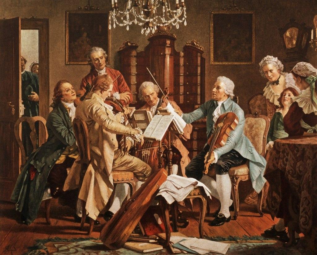 Haydn conducting with tenor viola
