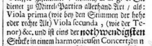 Johann Mattheson treatise of 1713, Das Neueröffnette Orchestra