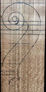 Deconet Venetian viola scroll head